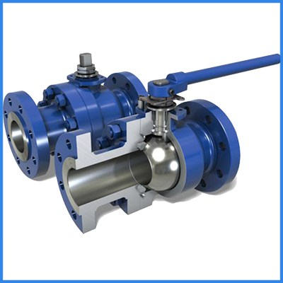 2PC Cast Steel  Floating Ball Valve
